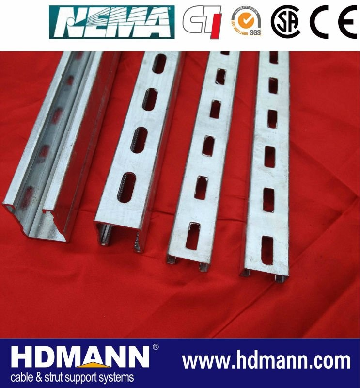 stainless steel unistrut channel/u channel/c channel sizes