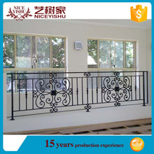 Wrought iron balcony balustrade/iron grill design for balcony/metal balcony railing designs
