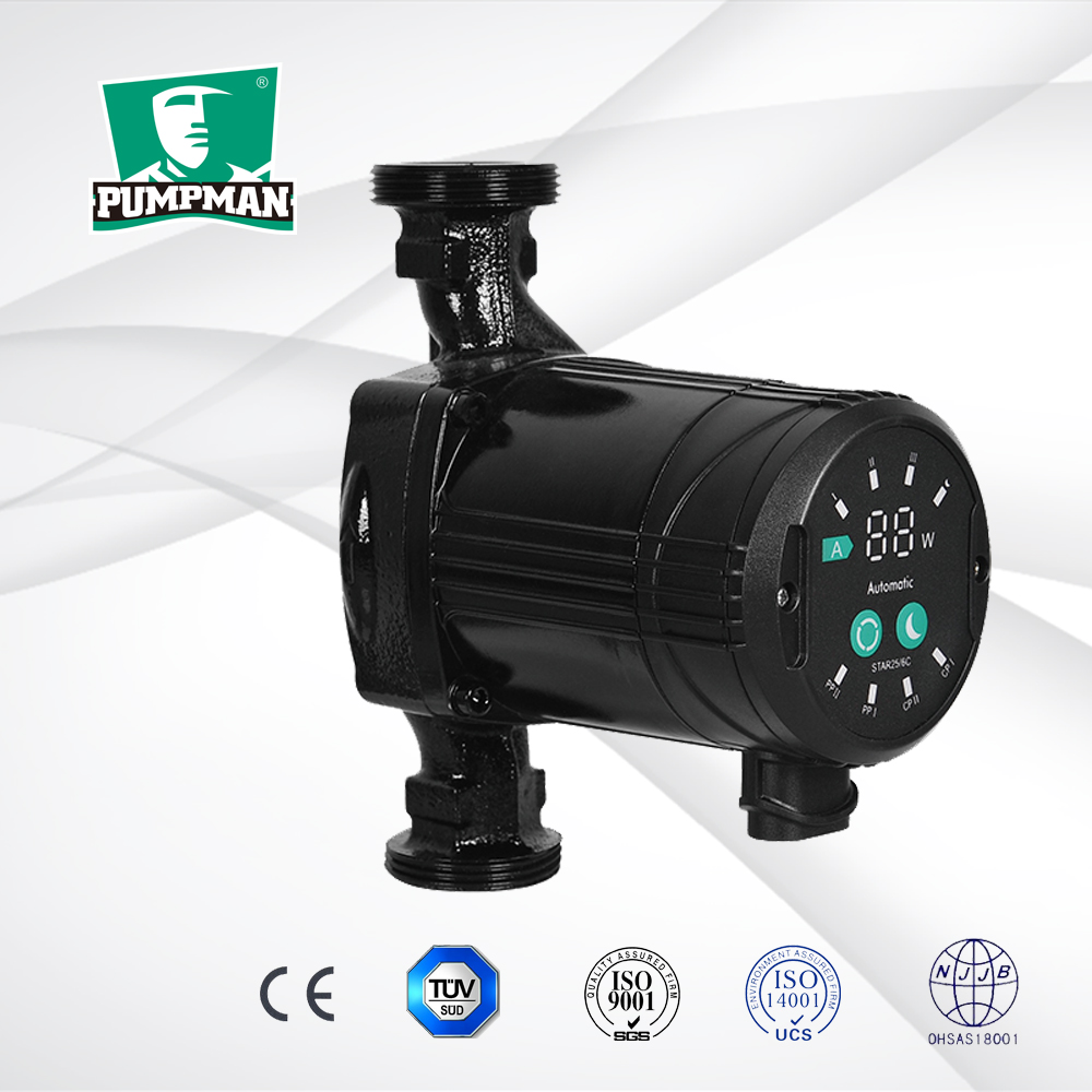 PUMPMAN 2016 newest design energy saving hot water heater booster pump