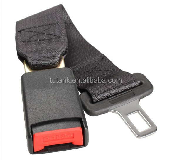 Car Vehicle Seat Belt Extension Extender Strap Safety Buckle Black