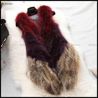 2016 New Design Women Fashion Mongolian Lamb Fur Vest