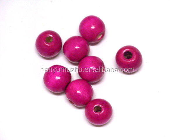 Wholesale 20mm wooden jewelry beads factory direct sale