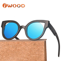 Black bamboo wooden Sun glasses sunglasses with TAC polarized lens