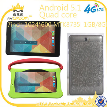 Low cost 7 Mobile Tablet pc Android 5.1 Quad core 4G Lte Made in China