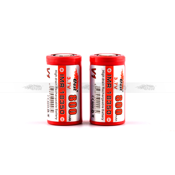Top Cheap in stock selling battery efest 18350 imr battery , red 18350 800mah 18350 battery