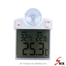solar digital window min max thermometer