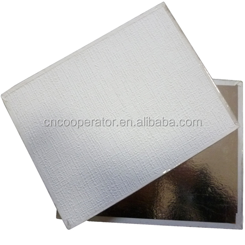 60x60 gypsum ceiling tiles with foil backside, pvc gypsum laminated board