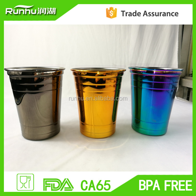 16oz Party Cup 18/8 Stainless Steel Pint Cup HS309-16