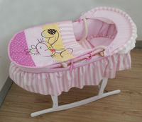 baby gift embroidery baby carry moses basket moses basket stand baby wicker moses basket