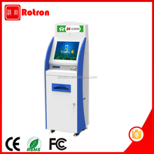 Cheap LCD TV Touch Screen Kiosk Bank Kiosk With Service Printing