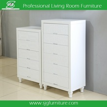 Modern White Cabinet Wooden Multi Drawer / Wooden Drawer Chest