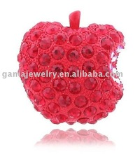 Hot Sale Red Apple Brooch with Full Crystal