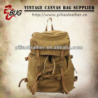 Latest Khaki Canvas Backpack Vintage Canvas Rucksack Canvas Knapsack