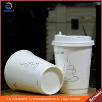 Double Wall Disposable Coffee Hot Paper Cups