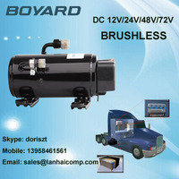 Hot Selling! R134A BOYARD brushless bldc dc inverter compressor 12000 btu for universal car air conditioner