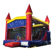 Rental Inflatable bouncy castle with slide for commercial use