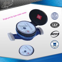 Dn15mm Dry type of pulse water meter with ISO 4064 standard