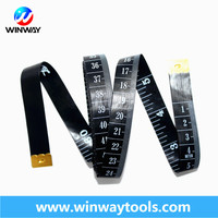 Tailoring tools 2m 1.5m black tailor measuring tape in bulk