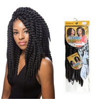 "Free Sample 12"" 30cm 12Roots/pack 2X Jumbo Synthetic Senegalese Twist Crochet Braid Extention"