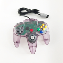 Classic Retro N64 Bit Wired Controller transparent purple