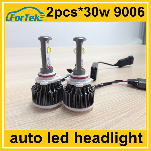 automobile accessories and parts led tuning headlight 9006 cree 30w 6000k