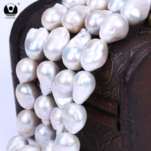 Wholesale 14-15mm AAA white nucleated shape huge size large baroque freshwater pearls