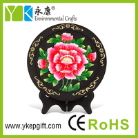 Red hibiscus flower show pieces for home decoration,plate activated carbon carving craft