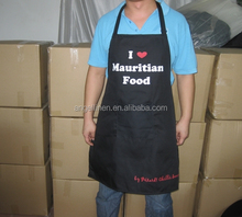 promotion high quality printing kitchen apron/ cooking apron /adult bib apron