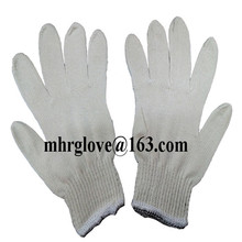 Brand MHR 600g/doz white cotton hand gloves poly cotton knitted gloves work glovescamo knitted gloves