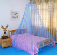 Pop up bed canopy Mosquito Netting Box Style Double blue