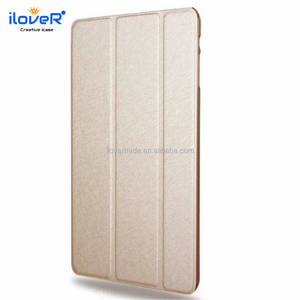 High quality gold leather shockproof case for ipad mini