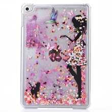 Fashion Liquid Glitter Hard Case for iPad Mini 4 Back Cover