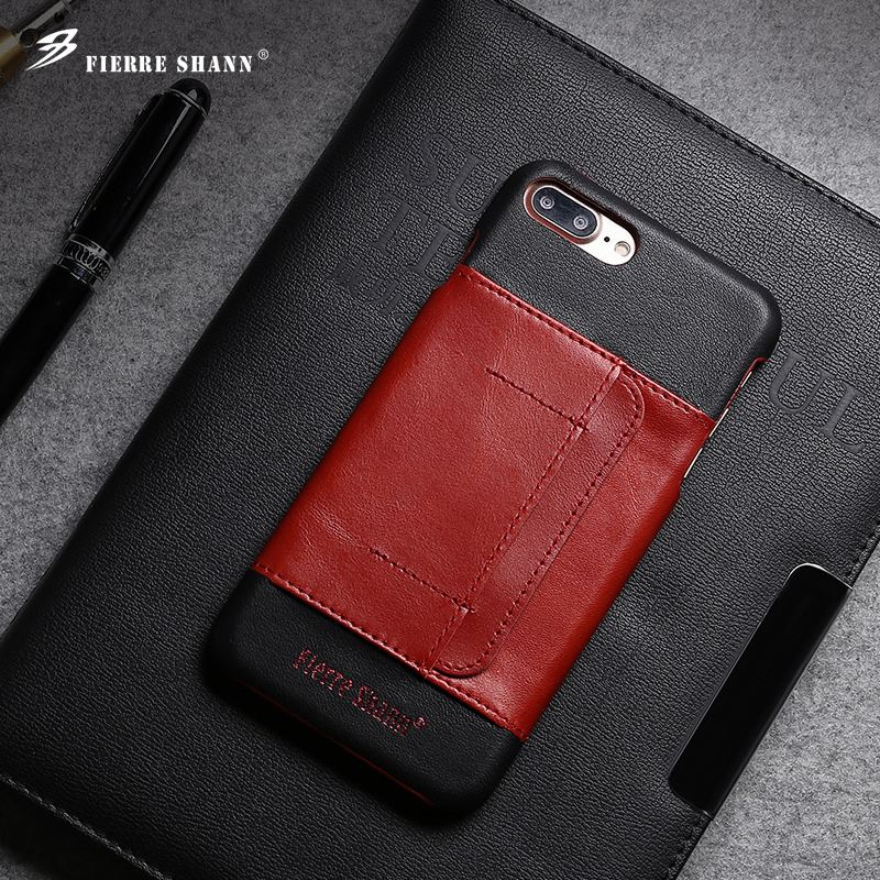 Cheap price high quality real leather phone cover case for iphone 7 plus