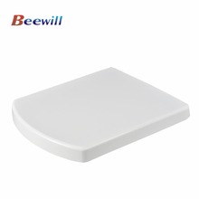 Square toilet seat with slow close damper