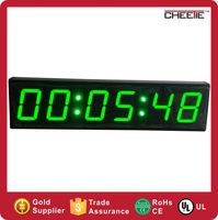 Low Price AC Power DC 12V Supply Display Mini Projects in Digital Clock with Milliseconds led digital clock with green display