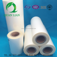 High quality crystal transparent dry matt bopp thermal film laminating