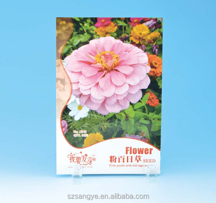 10g Flower Seeds Plastic Paper Bag Empty Paper Bag