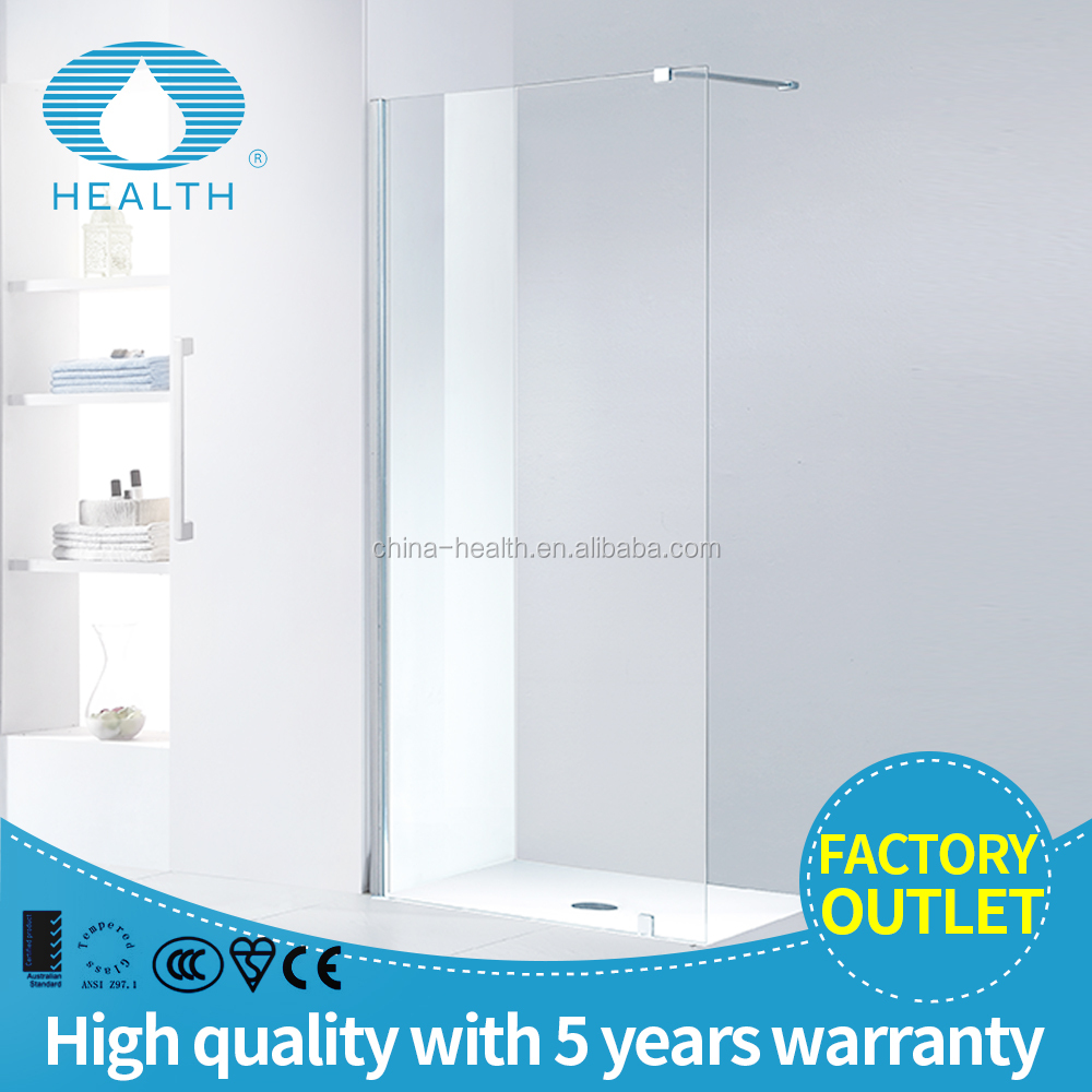 Walk-in Style Single Panel 6/8/10mm Tempered Glass Shower Enclosure JP502B