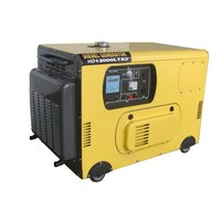 Air cooled single phase 220V/ three phase 380V 10KW small diesel generator set portable diesel gensets from china facture