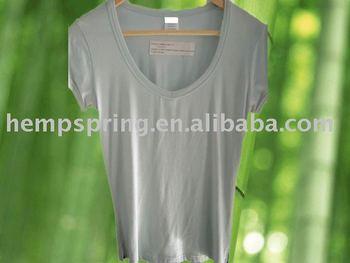 Bamboo women v neck clothing buy bamboo clothing bamboo for Bamboo v neck t shirts