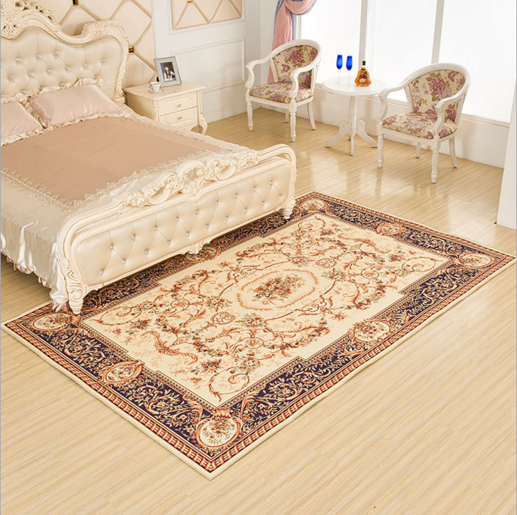 Polyester Area Rug,European style printed carpet LYPC016