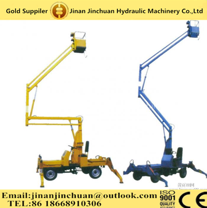 China hot sale 360 angle rotated boom lift/spider lift platform for aerial work