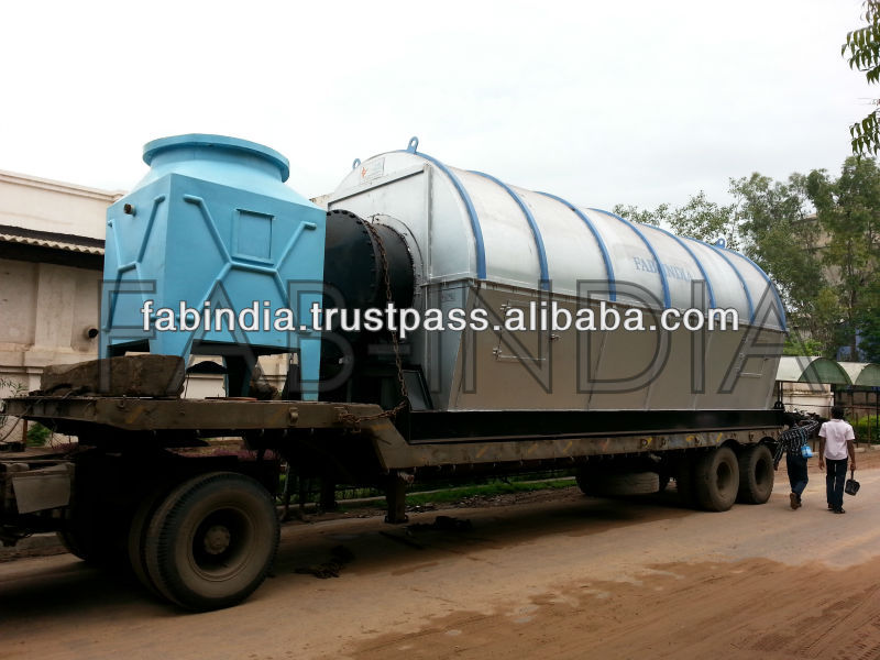 WASTE TYRE PYROLYSIS PLANT 45% OIL YIELD