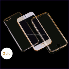 360 Full Cover Cear Tpu Case,Front & Back For iPhone 7 soft clear Shockproof Waterproof Phone case
