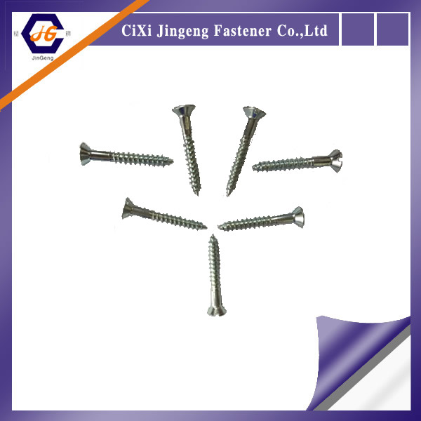 Jingeng DIN 97 Slotted Countersunk Head Wood Screws Yellow Zinc Plated
