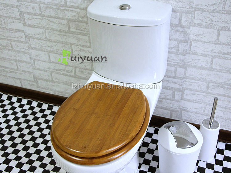 Natural Bamboo wooden toilet seat lid cover