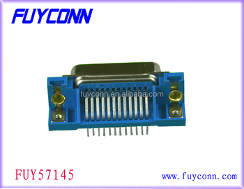 24 Pin Male Right Angle PCB Centronics DDK Connector Right Angle