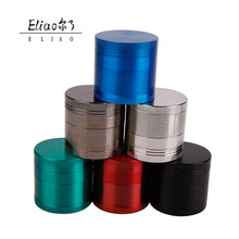 Erliao Portable Logo Metal Herb Grinder 4 Parts Manufacturer China Custom Herb Grinder