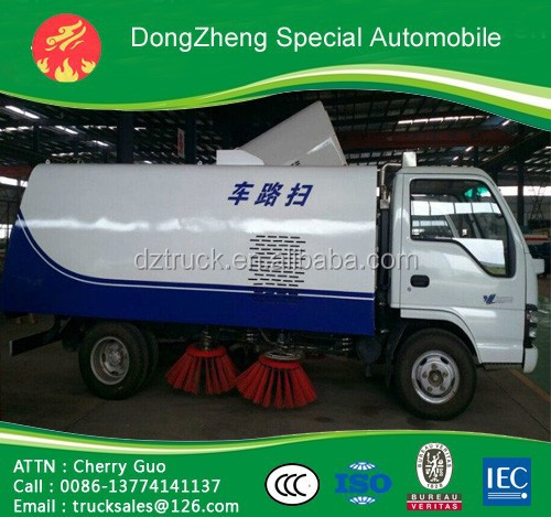 Dongfeng Furuika 4*2 road and street sweeping vacuum cleaning truck