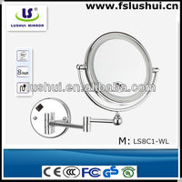 cheap double side round cosmetic decorative mirrors india